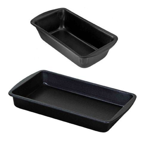 ProBake 2 Piece Non-Stick Bread Cake & Brownie Baking Tin Set